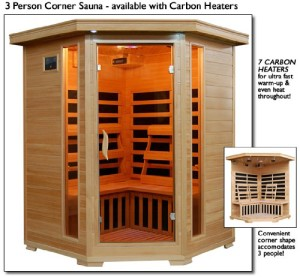 3 Person Sauna Corner Fitting Infrared FIR FAR 7