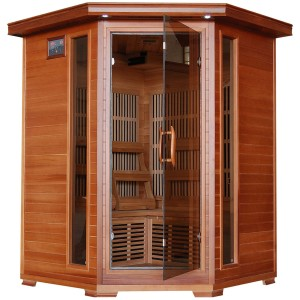 Radiant Saunas BSA1312 3-Person Cedar Corner Carbon