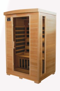 Therapuresauna ESF202HCB 2-Person Canadian Hemlock