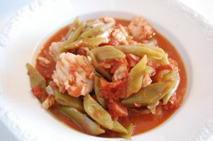 Green Bean and White Fish Stew