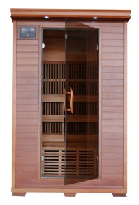 2 Person Red Cedar Wood Infrared Sauna
