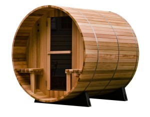 4-Person Canopy Barrel Sauna