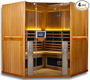 4 Person Corner Sauna ClearLight Sanctuary C-FS Full Spectrum