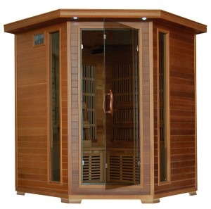4 Person Corner Sauna FAR Infrared Red Cedar Wood