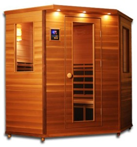 ClearLight IS-C Four Person Corner Sauna